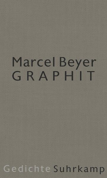 Graphit als Buch von Marcel Beyer