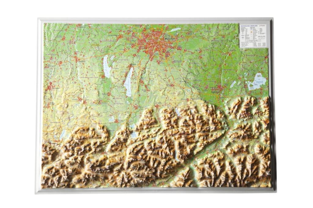 Reliefkarte Bayerisches Oberland 1 : 400.000 als Buch von André Markgraf, Mario Engelhardt