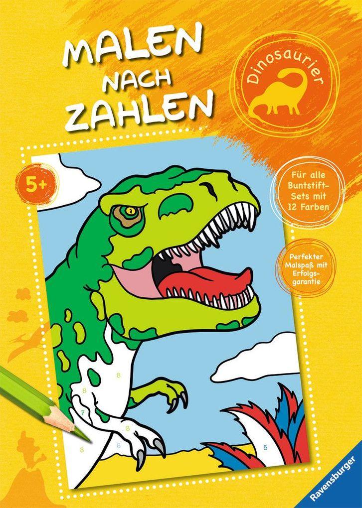 Malen nach Zahlen: Dinosaurier als Buch von