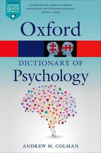 A Dictionary of Psychology als Taschenbuch von Andrew M. Colman
