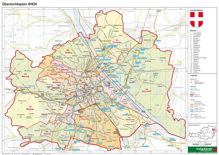 Wien politisch Planokarte 1 : 85.000 als Buch von