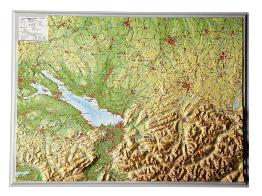 Relief Region Allgäu Bodensee 1 : 400.000 als Buch von André Markgraf, Mario Engelhardt