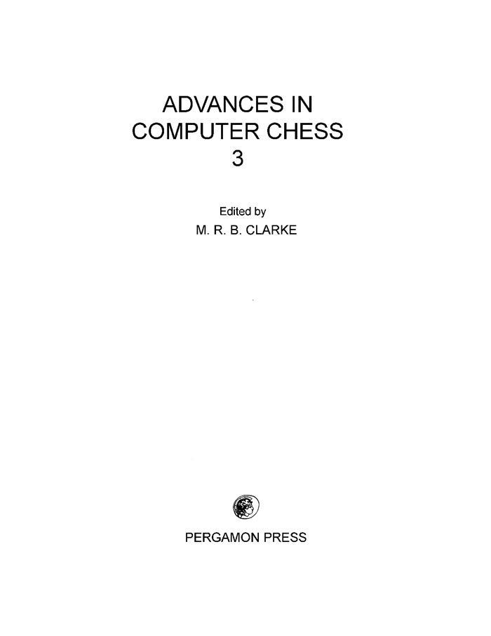 Advances in Computer Chess als eBook von