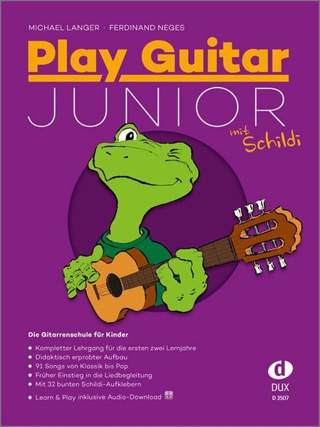 Play Guitar Junior mit Schildi als Buch von Michael Langer, Ferdinand Neges