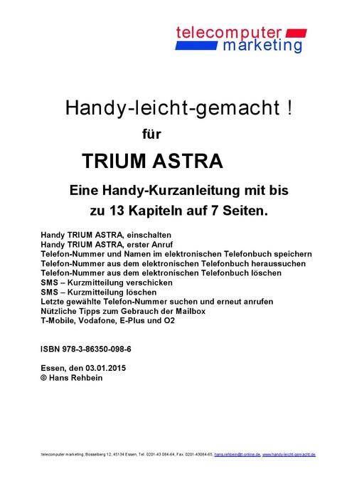 Trium Astra-leicht-gemacht als eBook von Hans Rehbein