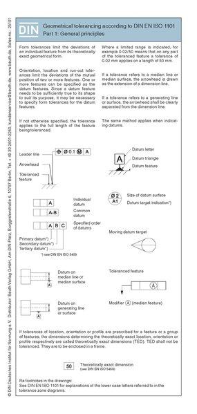 Geometrical tolerancing according to DIN EN ISO 1101 1:2014 als Buch von Harry Bertschat