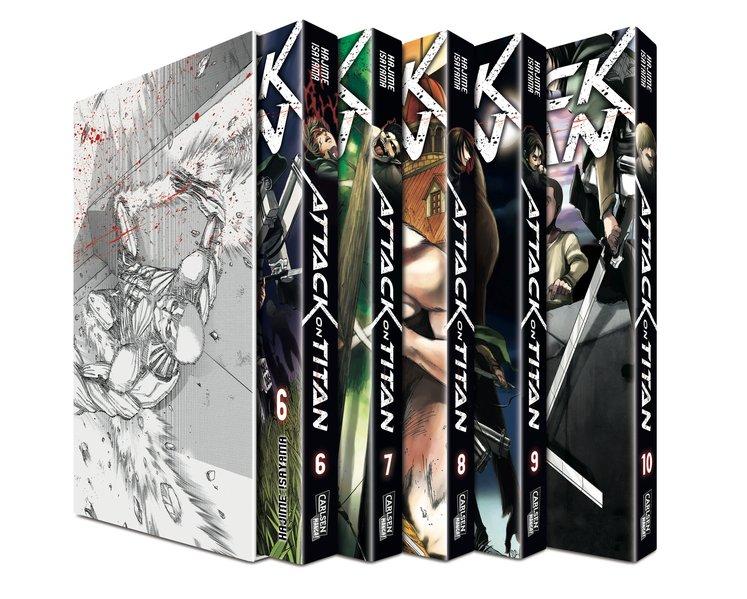 Attack on Titan 6-10 im Sammelschuber mit Extra als Buch von Hajime Isayama