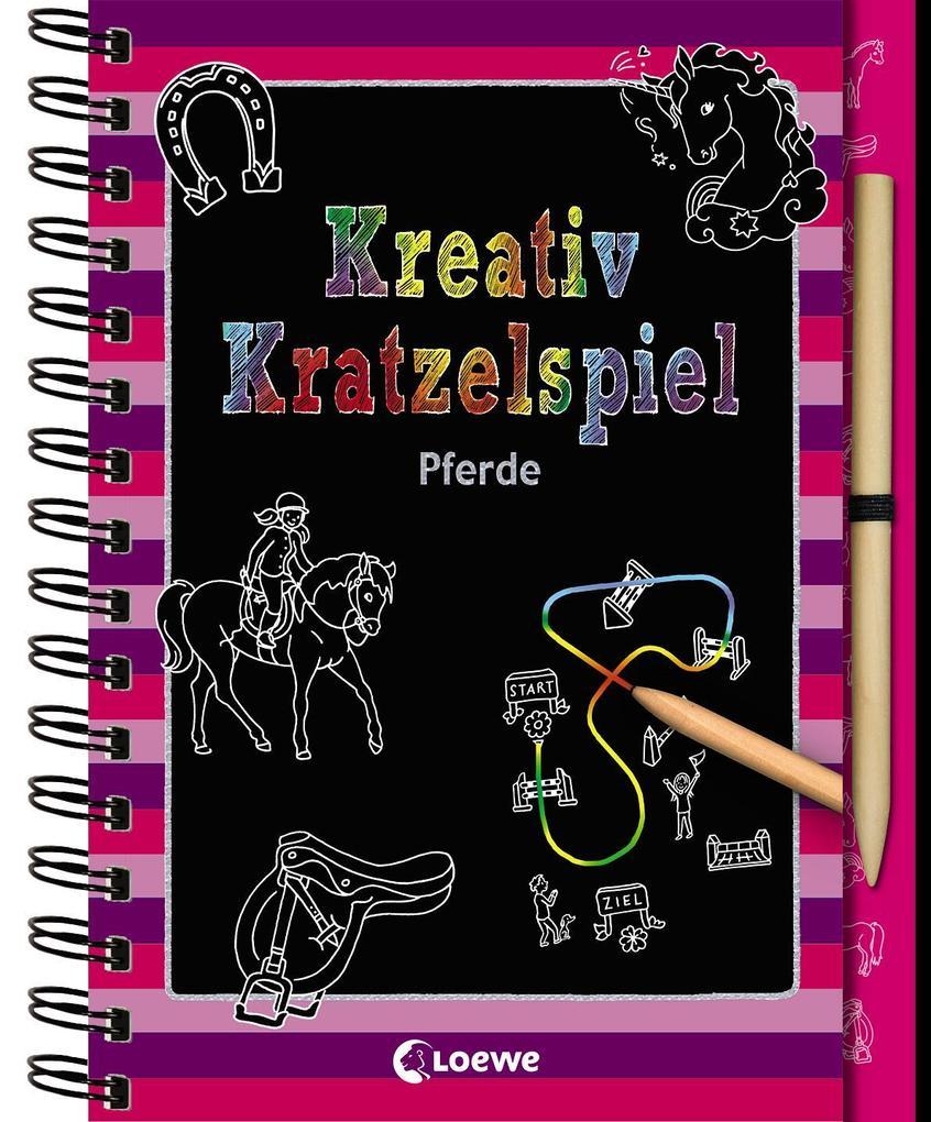 Kreativ-Kratzelspiel: Pferde als Buch von