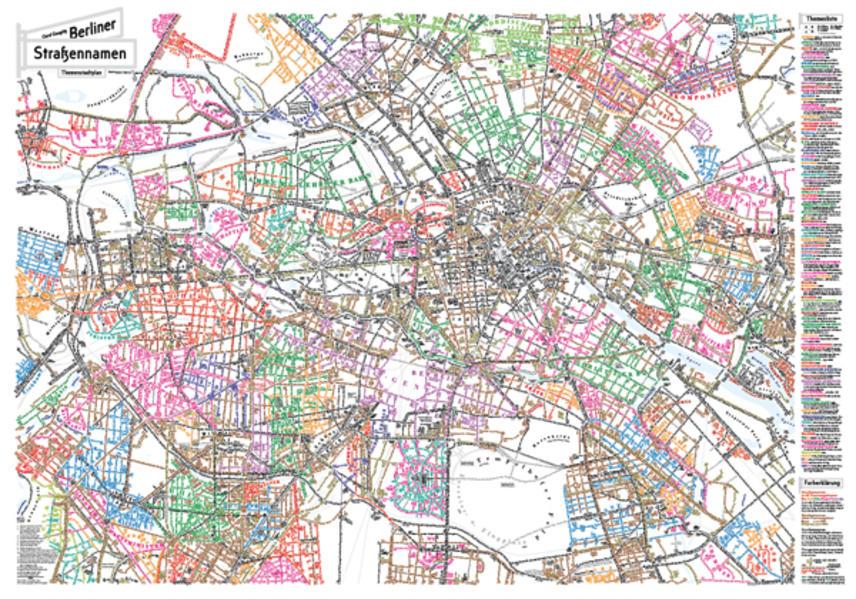 Berliner Straßennamen - Themenstadtplan als Buc...