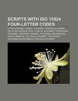 Scripts with ISO 15924 four-letter codes als Ta...