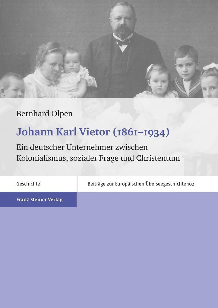 Johann Karl Vietor (1861-1934) als eBook von Be...