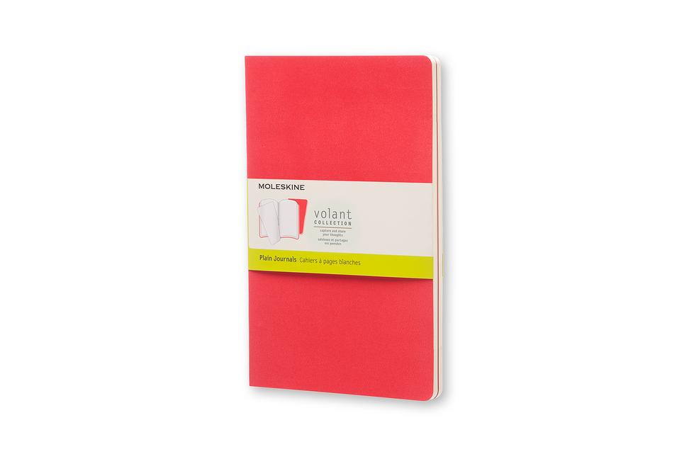 Moleskine Volant Notizheft L/A5, 2er Set Blanko, Soft Cover, Geranienrot, Scharlachrot als Buch von