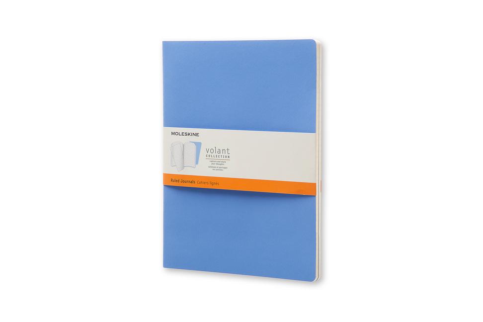 Moleskine Volant Notizheft XL, 2er Set Liniert, Soft Cover, Puderblau, Königsblau als Buch von Moleskine