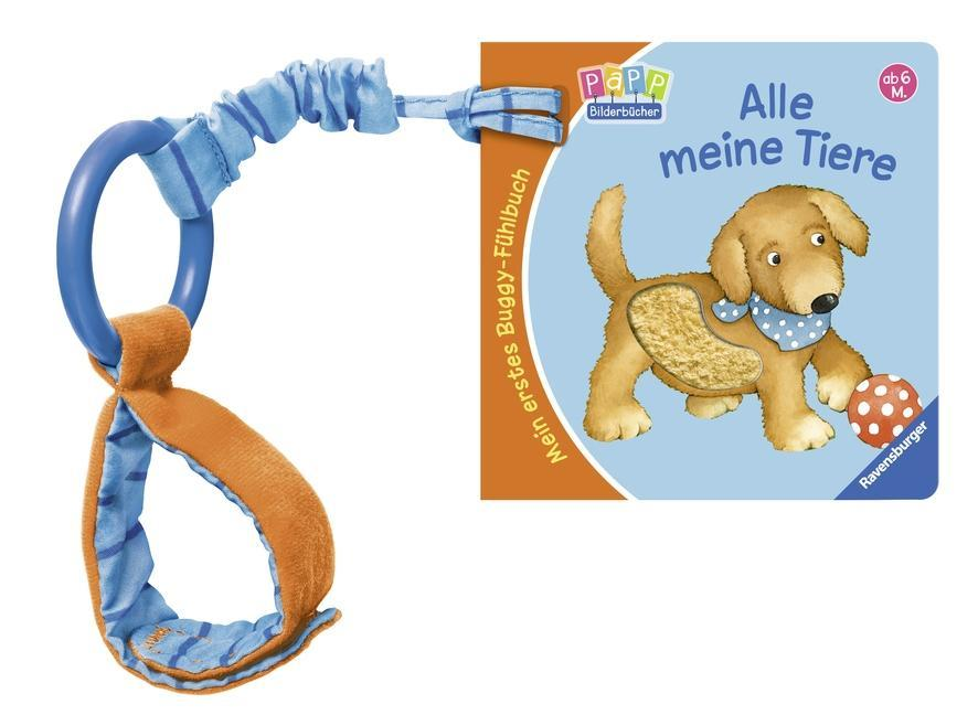 Mein erstes Buggy-Fühlbuch: Alle meine Tiere als Buch von Sandra Grimm