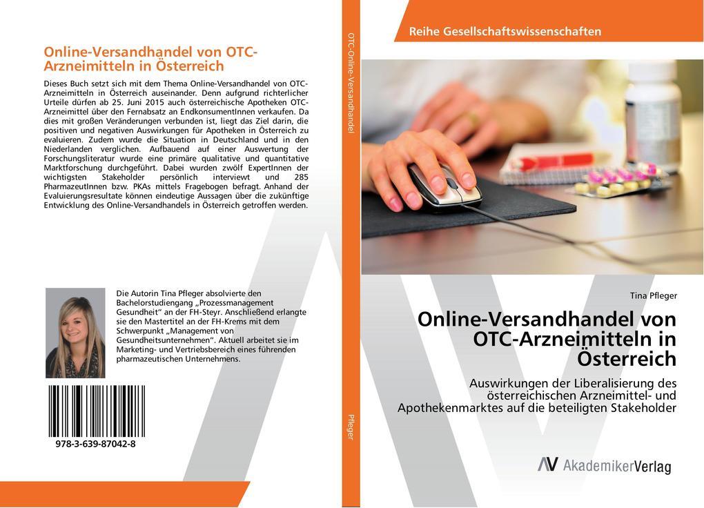 Online-Versandhandel von OTC-Arzneimitteln in Österreich als Buch von Tina Pfleger