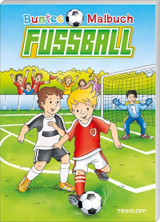 Buntes Malbuch Fußball. Ab 5 Jahren als Buch von Stefan Lohr