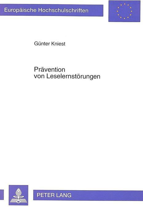 Prävention von Leselernstörungen als Buch von Günter Kniest