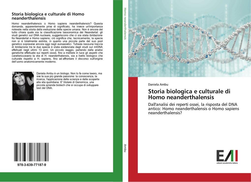 Storia biologica e culturale di Homo neanderthalensis als Buch von Daniela Ambu