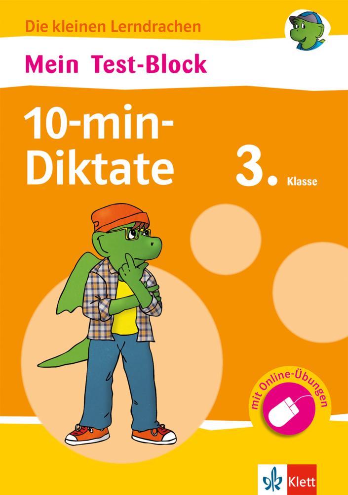 Mein Test-Block 10-min-Diktate. 3. Klasse mit Online-Übungen als Buch von