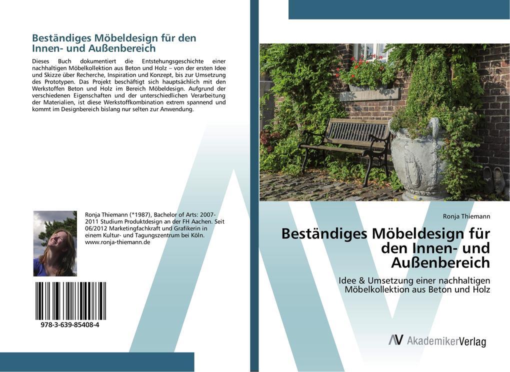 Beständiges Möbeldesign für den Innen- und Außenbereich als Buch von Ronja Thiemann