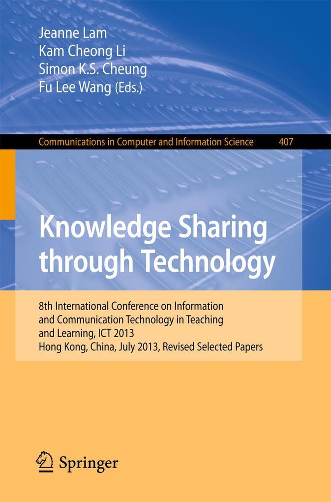 Knowledge Sharing Through Technology als eBook von