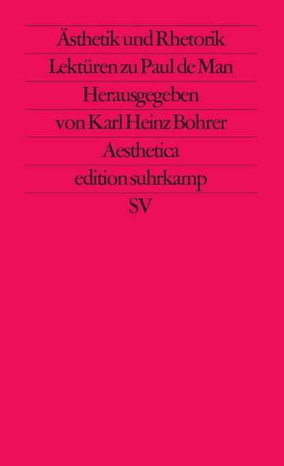 Ästhetik und Rhetorik als Taschenbuch von