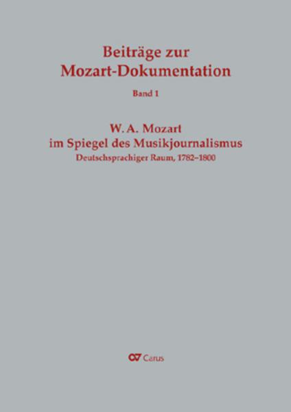 W. A. Mozart im Spiegel des Musikjournalismus als Buch von