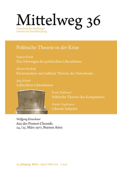 Mittelweg 36 Zeitschrift des Hamburger Instituts für Sozialforschung als Buch von Regina Kreide Martin Nonhoff Jörg Schaub Frank Nullmeier Fr...