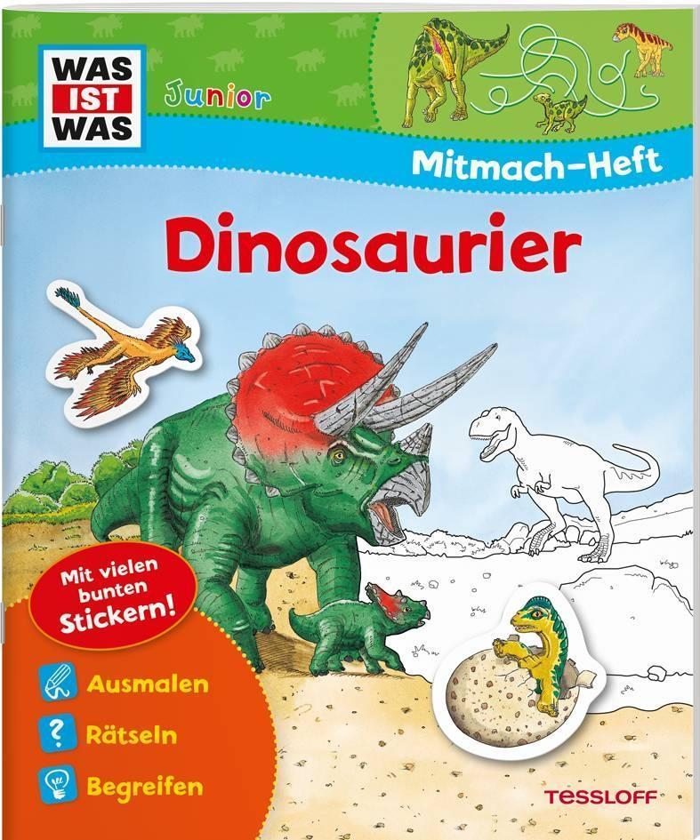 Mitmach-Heft Dinosaurier als Buch von Monika Ehrenreich, Martin Stiefenhofer