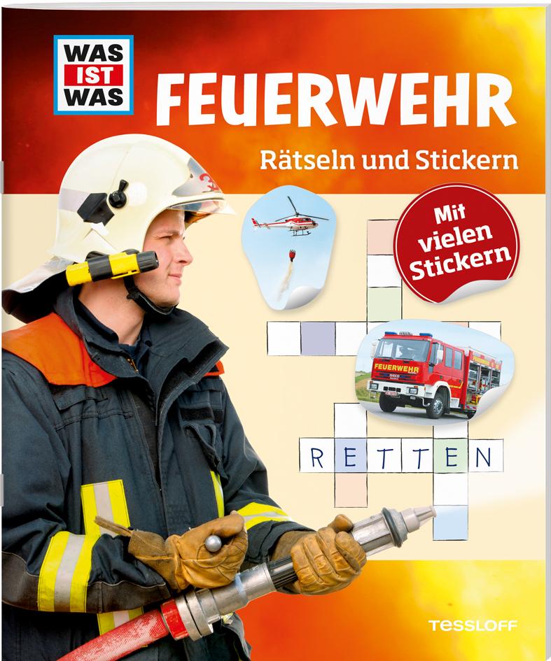 Rätseln und Stickern: Feuerwehr als Buch von Anja Kunze