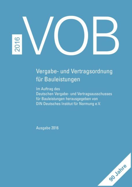 VOB 2016 Gesamtausgabe als Buch von