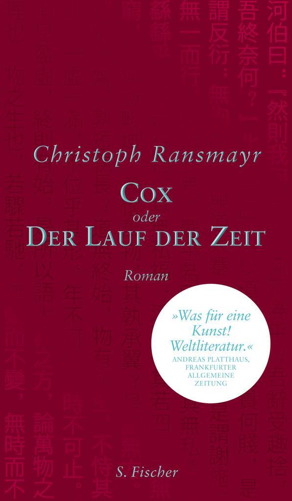 Cox als Buch von Christoph Ransmayr