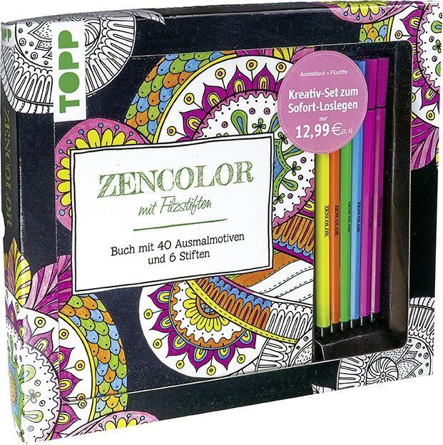 Kreativ-Set Zencolor mit Filzstiften als Buch von