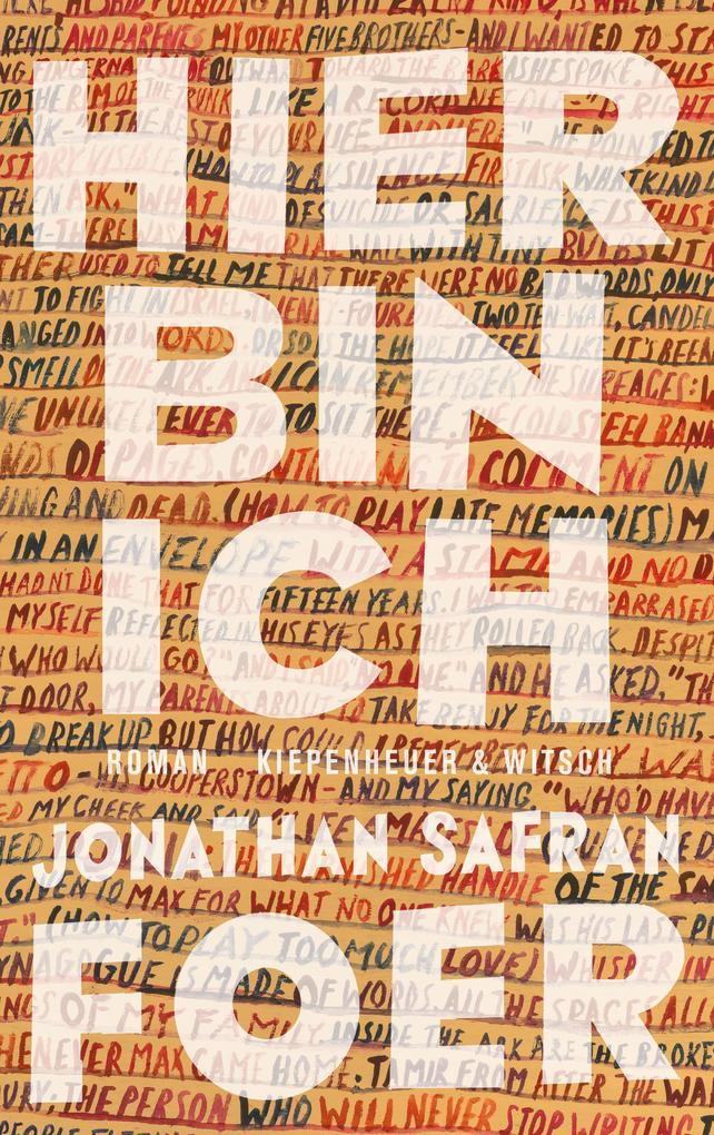 Hier bin ich als Buch von Jonathan Safran Foer