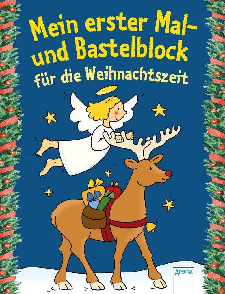 Mein erster Mal- und Bastelblock für die Weihnachtszeit als Buch von