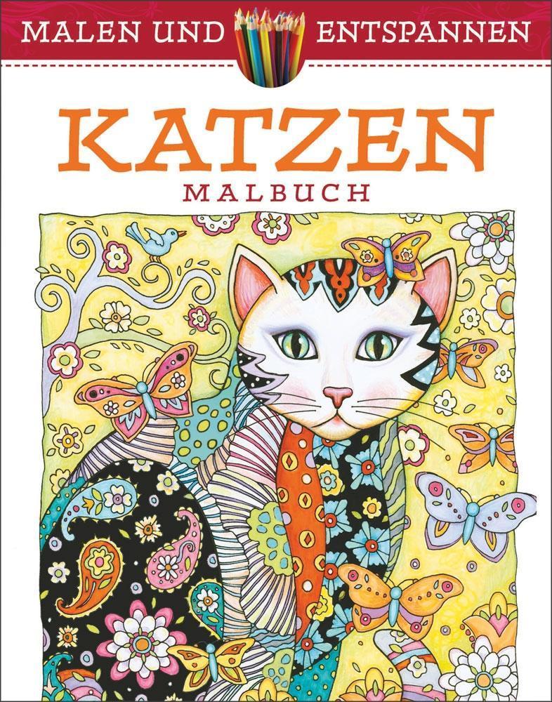 Malen und entspannen: Katzen als Buch von Marjorie Sarnat
