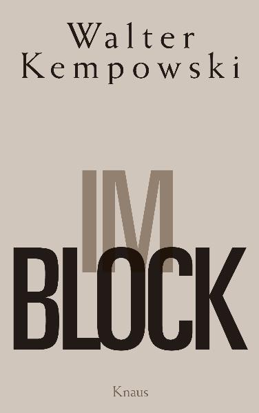 Im Block als Buch von Walter Kempowski