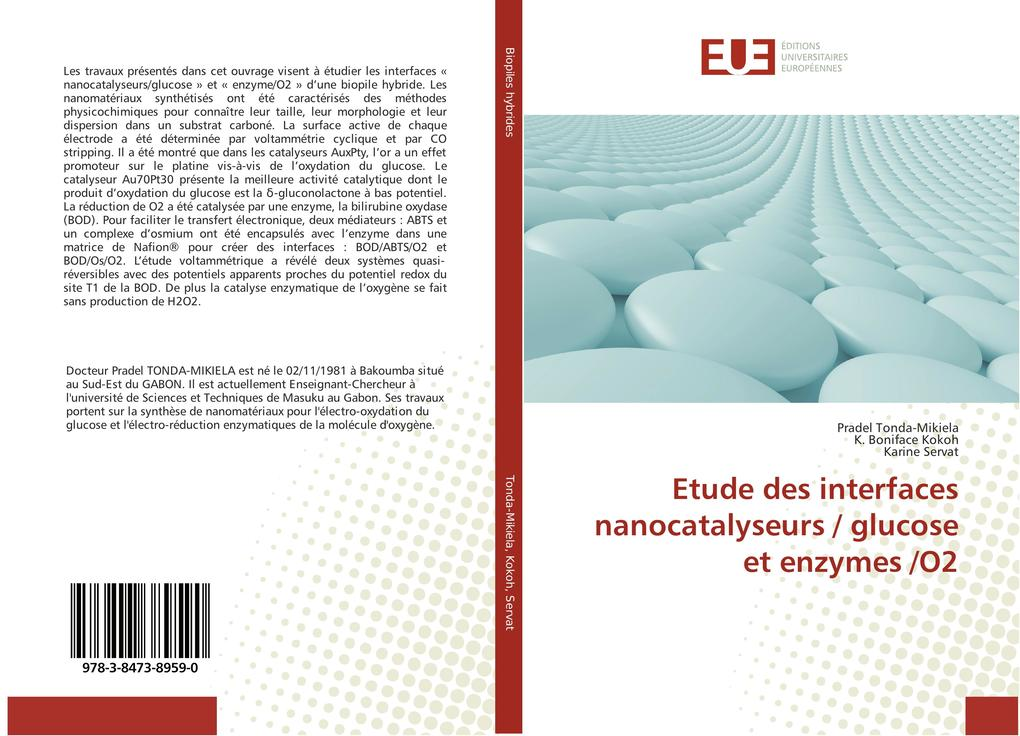 Etude des interfaces nanocatalyseurs glucose et enzymes O2 als Buch von Pradel Tonda-Mikiela K. Boniface Kokoh Karine Servat