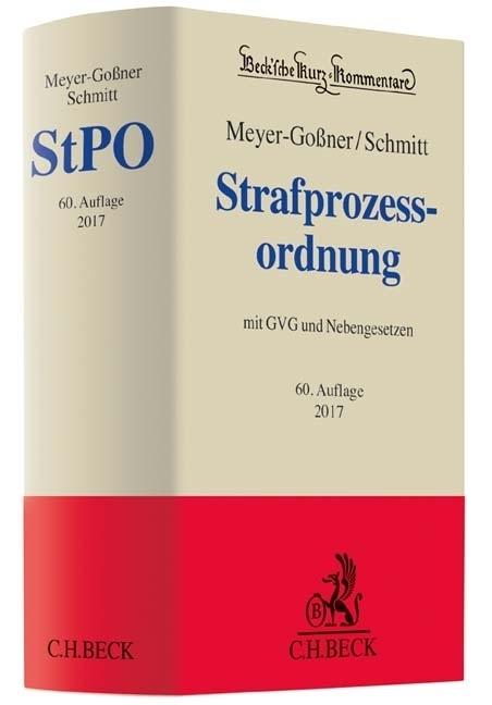 Strafprozessordnung als Buch von Lutz Meyer-Goßner, Bertram Schmitt