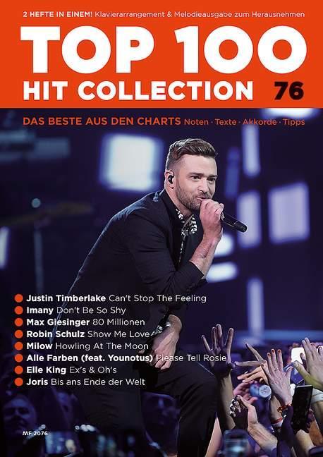 Top 100 Hit Collection 76. Klavier / Keyboard als Buch von Uwe Bye