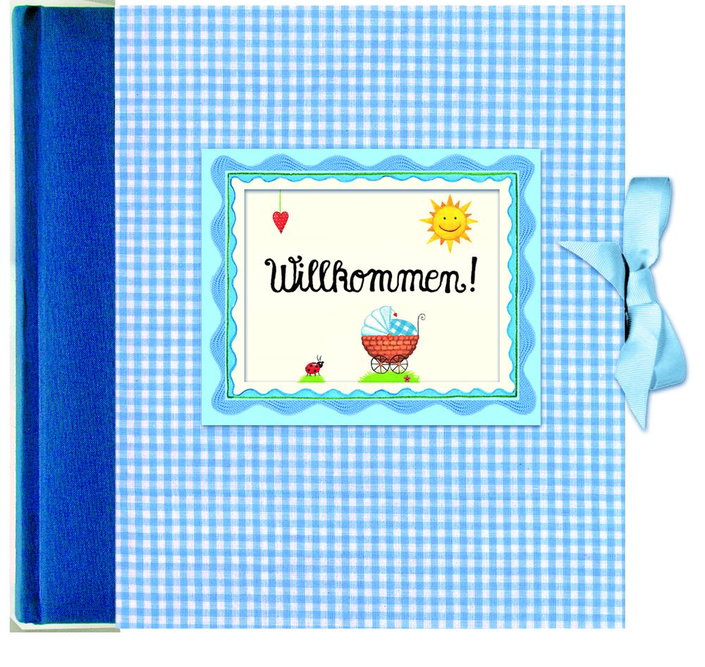Willkommen! Babyalbum blau als Buch von Anne Mußenbrock