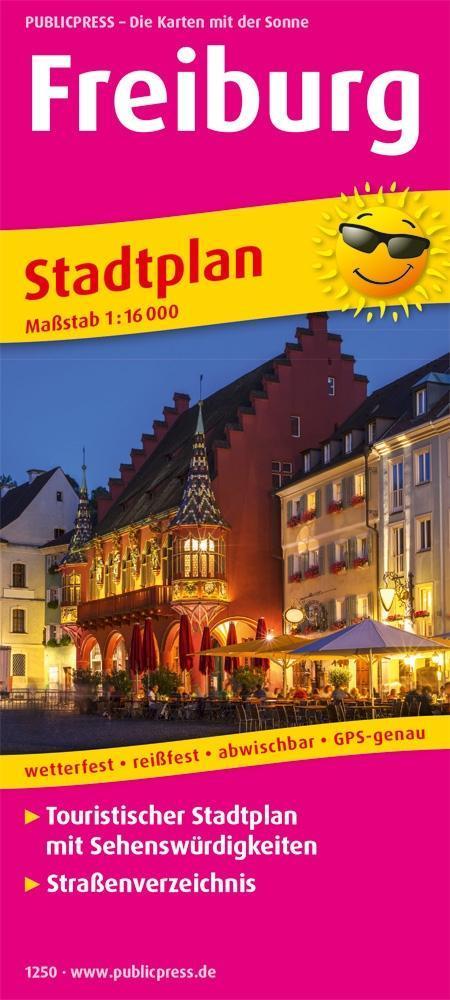 Freiburg. Stadtplan als Buch von