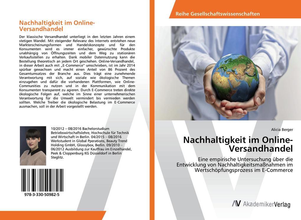 Nachhaltigkeit im Online-Versandhandel als Buch von Alicia Berger