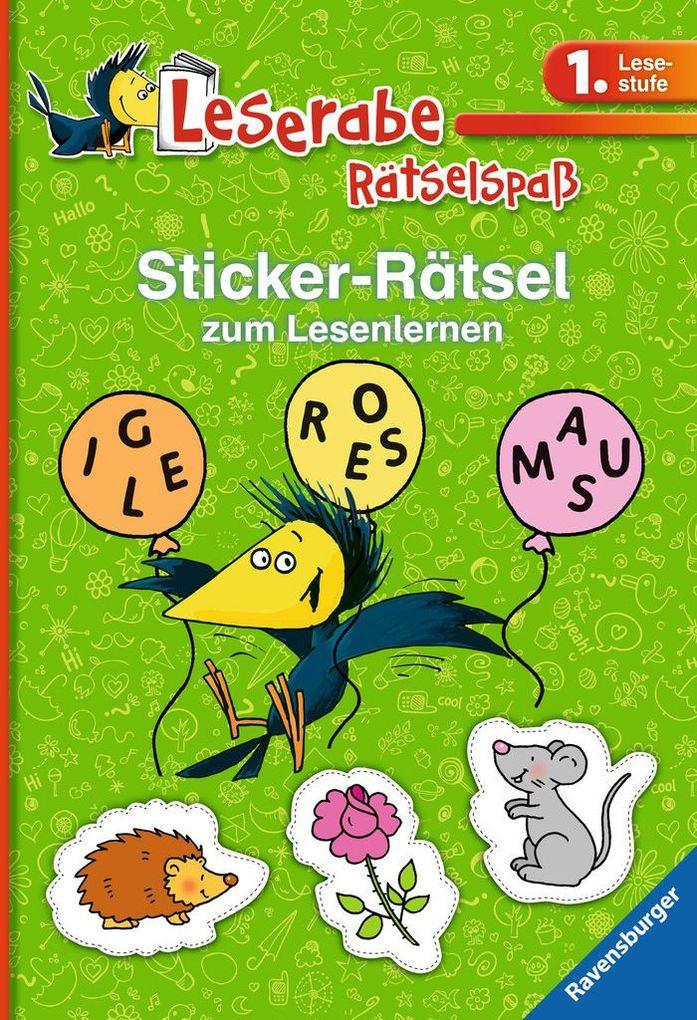 Sticker-Rätsel zum Lesenlernen (1. Lesestufe), grün als Buch von Lena Merk