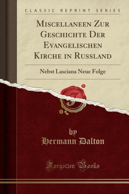 Miscellaneen Zur Geschichte Der Evangelischen K...