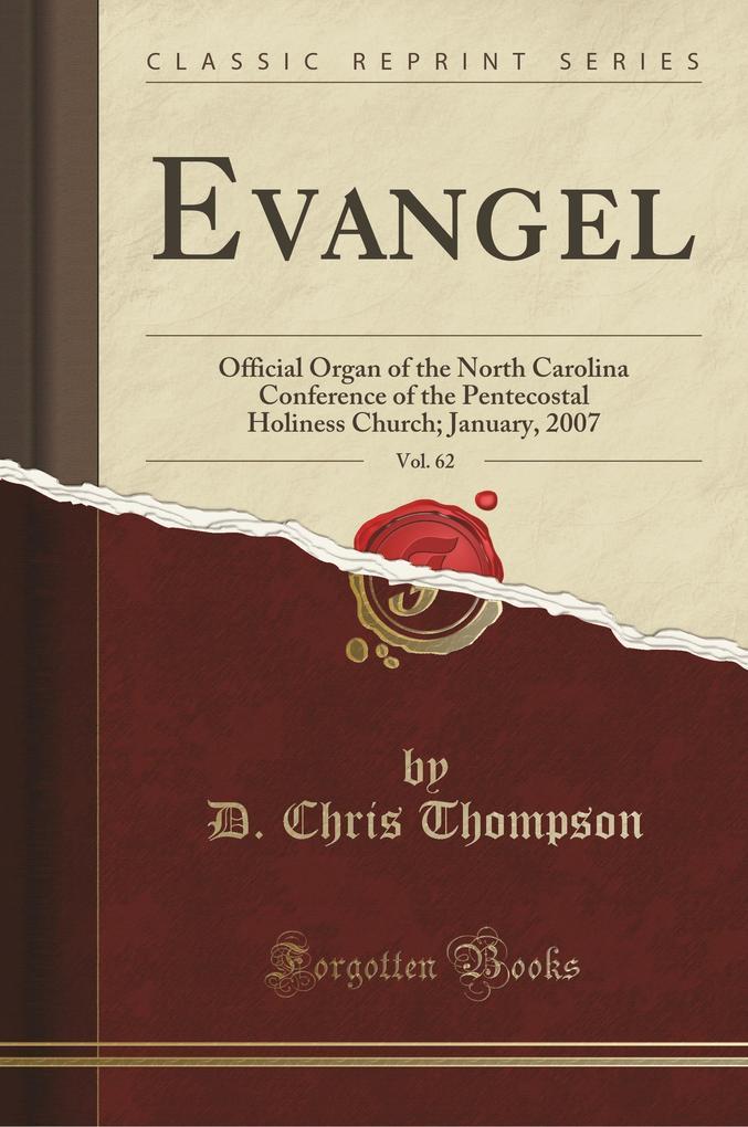 Evangel, Vol. 62 als Taschenbuch von D. Chris Thompson