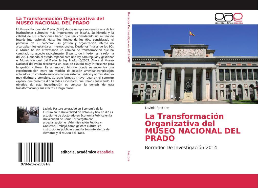 La Transformación Organizativa del MUSEO NACIONAL DEL PRADO als Buch von Lavinia Pastore