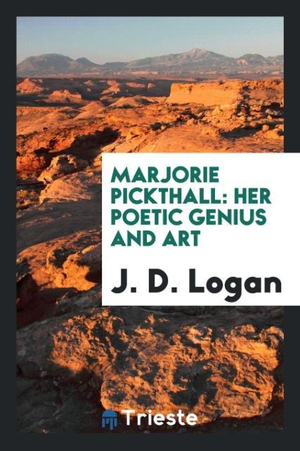 9780649315338 - Marjorie Pickthall als Taschenbuch von J. D. Logan - کتاب