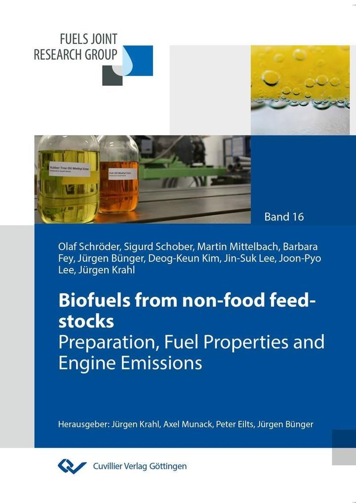 Biofuels from non-food feed-stocks als eBook von - Cuvillier Verlag