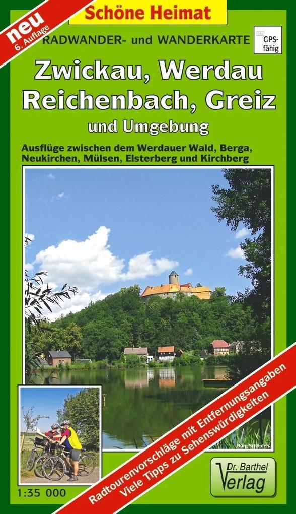 Radwander- und Wanderkarte Wälder um Zwickau, W...